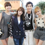 Pictures of SNSD & Choi Siwon on the Oh! My Lady set