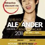 Alexander Live in KL Solo Showcase 2011
