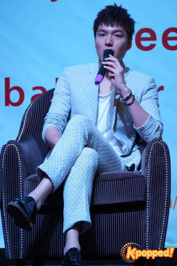 Lee Minho My Everything Malaysia press conference 2