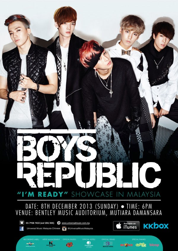 Boys Republic Im Ready Showcase Malaysia Poster