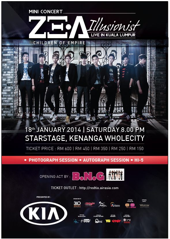 ZEA Illusionist Concert Malaysia Poster