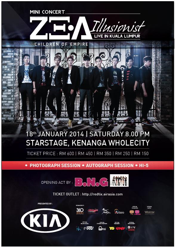 ZEA Illusionist Concert Malaysia Poster