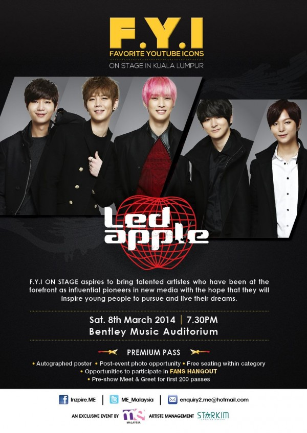 FYI on Stage LEDAPPLE