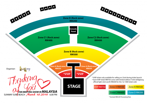 Thinking Of You Fan Meeting Show Malaysia seating plan