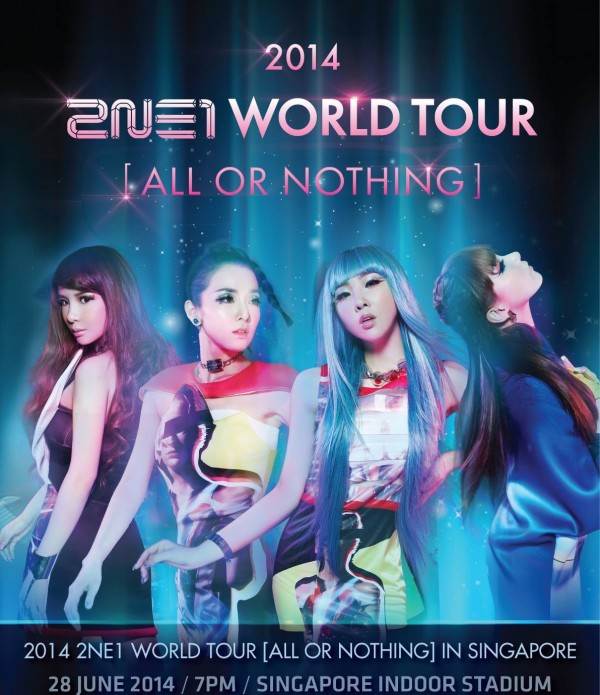 2NE1 All Or Nothing Singapore poster