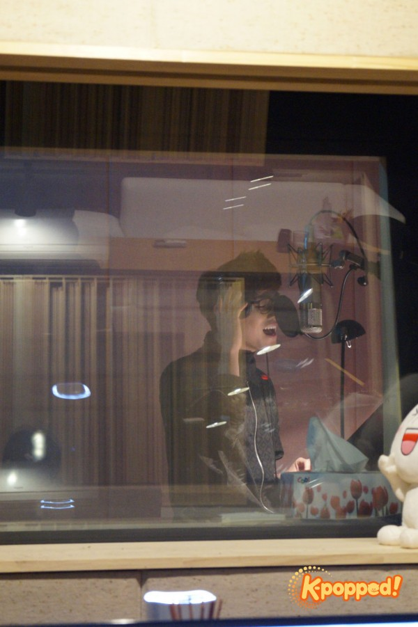 Eric Nam vocal practice Sweetune studio
