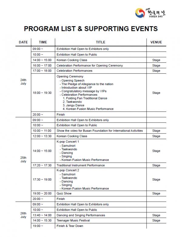 Korea Day program