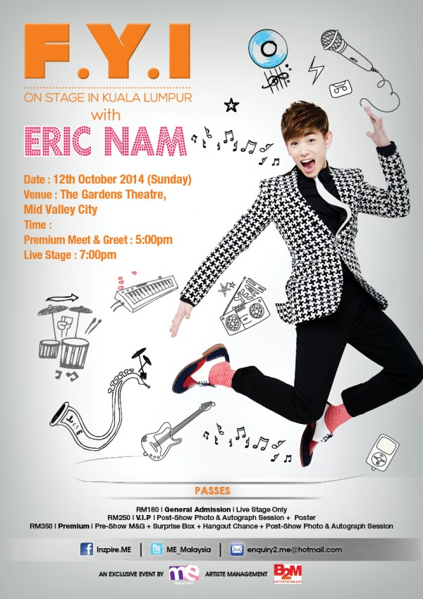 FYI on Stage with Eric Nam poster