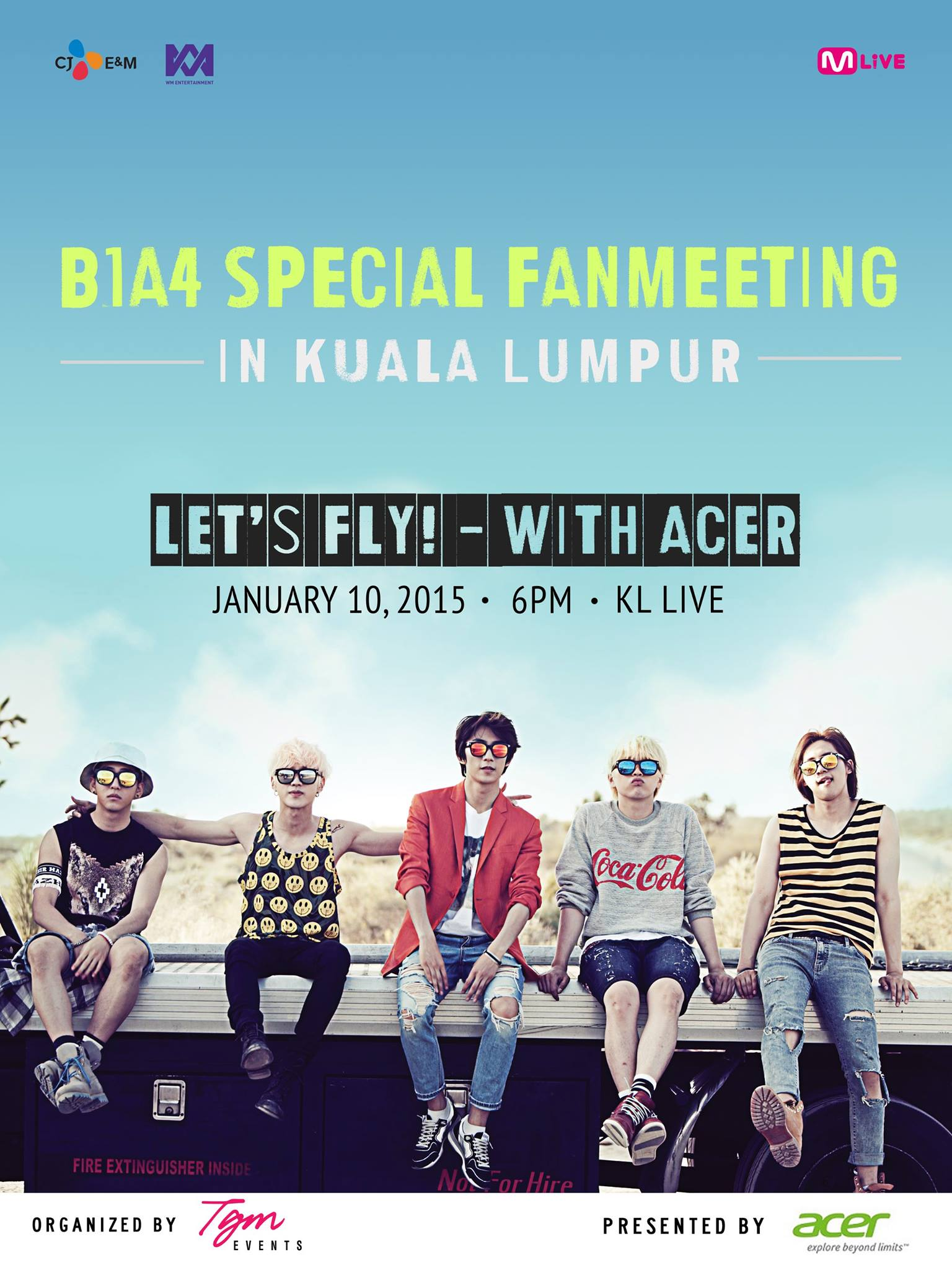 B1A4 Special fan meeting in Kuala Lumpur poster