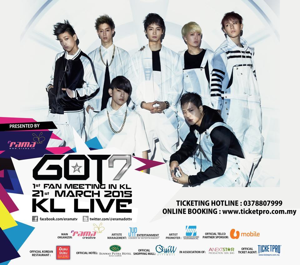 GOT7 1st Fan Meeting in Kuala Lumpur Malaysia poster