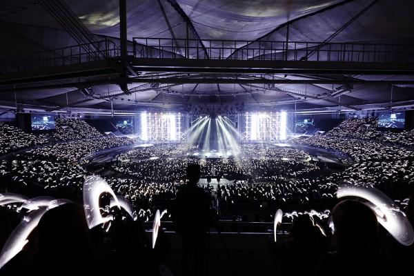 The light sticks lights up the stadium that night