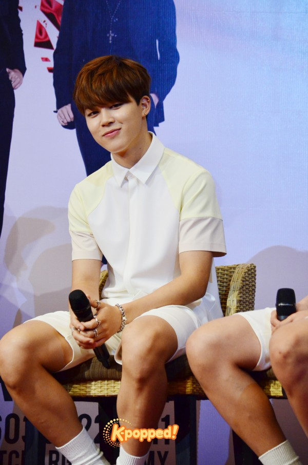 BTS Jimin The Red Bullet in Malaysia Press Conference