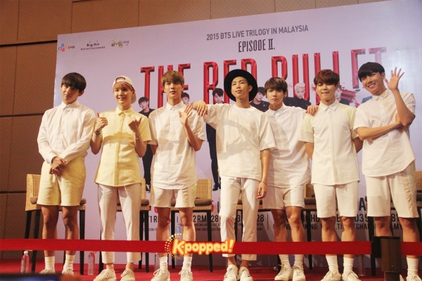 Bangtan BTS The Red Bullet in Malaysia Press Conference