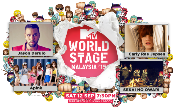Artists for MTV World Stage Malaysia 2015