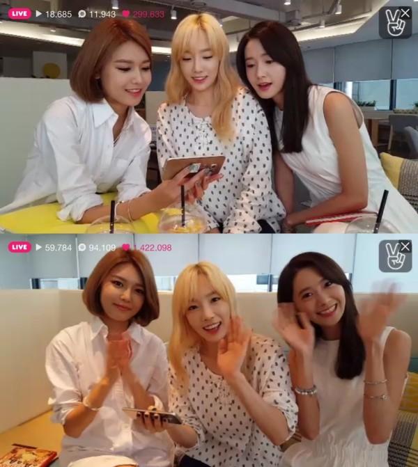 Girls Generation on V App