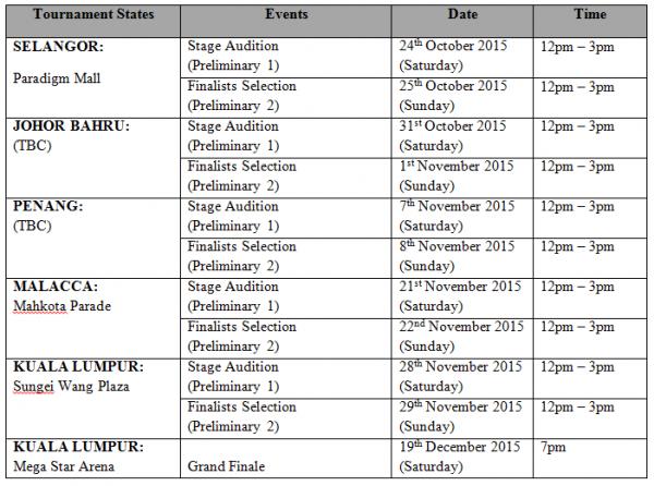 KStorm schedule