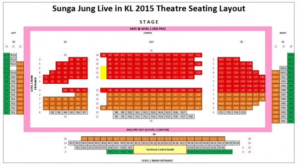 Sungha Jung Live in KL seating plan