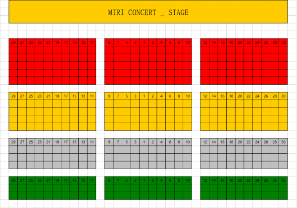 Sungha Jung Live in Miri seating plan
