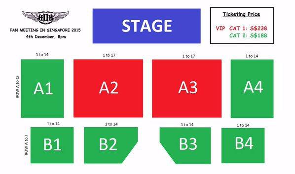 BTOB Fan Meeting in Singapore seating plan