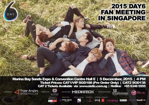 Day6 Fan Meeting in Singapore Poster