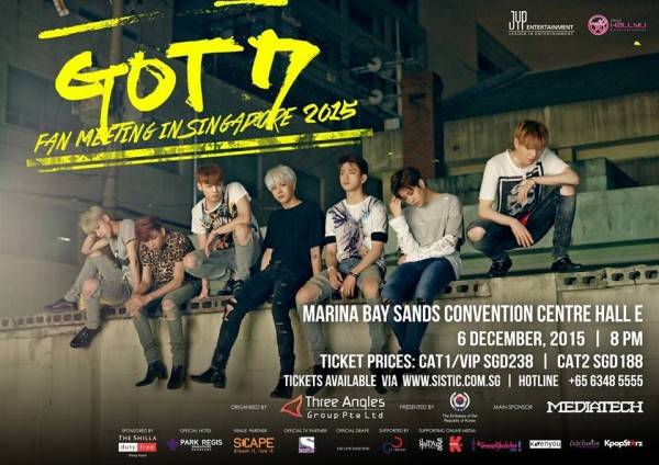 GOT7 Fan Meeting in Singapore poster
