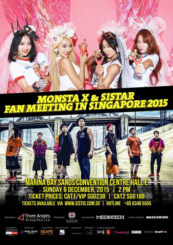 SISTAR Monsta X Fan Meeting in Singapore