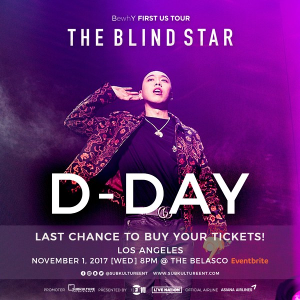 Bewhy S Us Tour The Blind Star Officially Begins Tonight