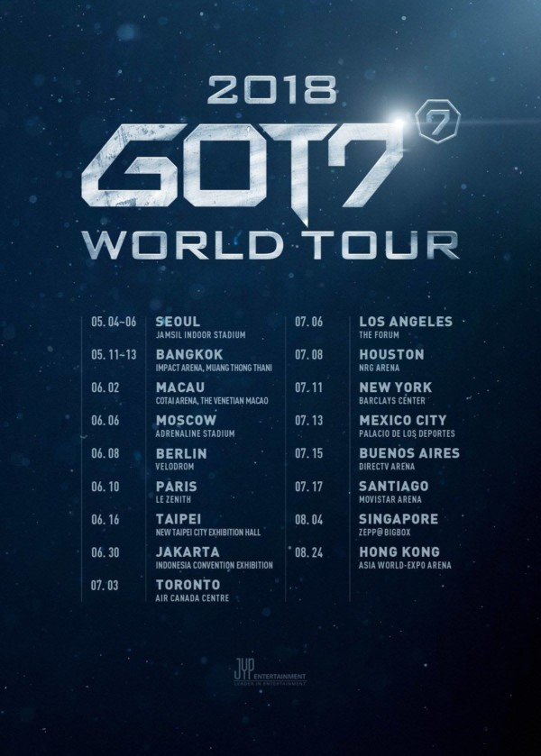 2018 GOT7 World Tour is Coming! · K-POPPED!