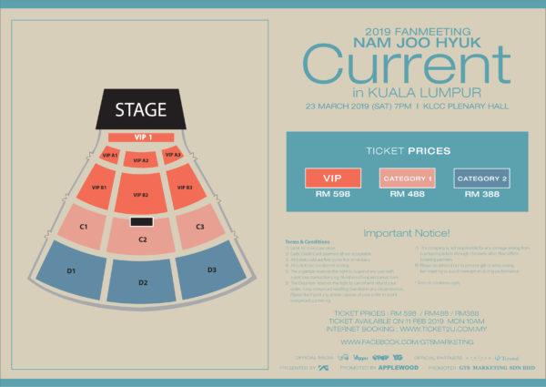 Seating Chart & Ticket Prices