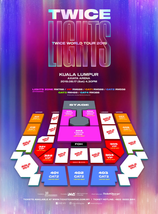 Twice World Tour 2019 Twicelights In Kuala Lumpur Are Already