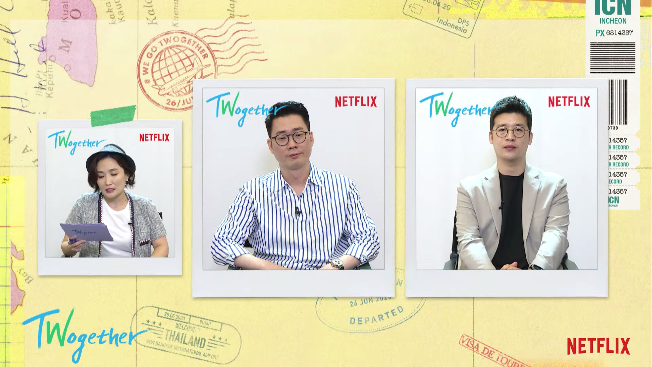 PDs took travel recommendations which suited Seunggi and Jasper